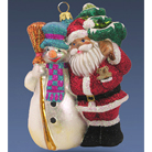 Снеговик и Санта