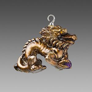 Дракон китайский бронзовый