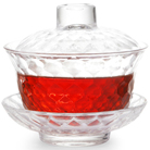 """Гайвань с блюдцем и крышкой из жаропрочного граненого стекла  """"Бриллиант"""" 100 мл."""