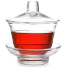 """Гайвань с блюдцем и крышкой из жаропрочного стекла """"Цвет чая"""" 100 мл."""