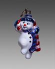 Снеговичок в шарфе