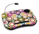 Столик для ноутбука с подушкой и подсветкой Цветы