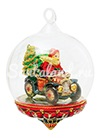 Санта с подарками на авто