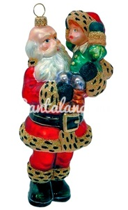 Санта с ребёнком на руках