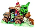 Дед Мороз на грузовике