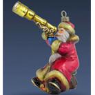 Санта звездочет в красном кафтане