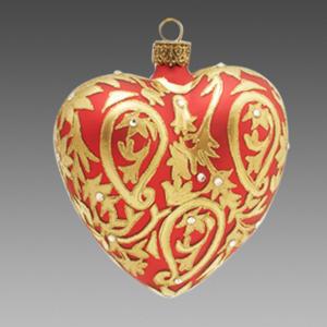 Сердце бархатная ткань