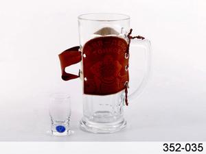 "Набор: пивная кружка с рюмкой ""Баня"""
