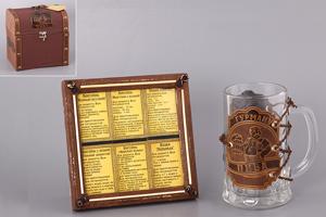"""Набор """"Гурману"""": сундучок и рамка с рецептами кружка"""