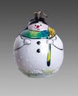 Снеговик пузырь зеленый шарф