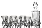 "Набор для виски 7 предметов: ""Квадро"" штоф и 6 стаканов"