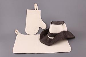 "Набор для бани 3 пр: шапка ""Статсон"" коврик+рукавица"