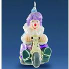 Клоун на велосипеде colorful
