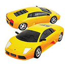 3D модель-пазл Lamborgini матовый желтый