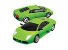 3D модель-пазл Lamborgini матовый зеленый