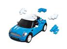 3D пазл Mini Cooper матовый синий
