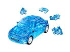 3D пазл Mini Cooper полупрозрачный синий