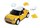 3D пазл Mini Cooper матовый желтый