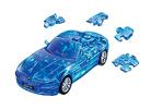 3D пазл BMW Z4 полупрозрачный синий