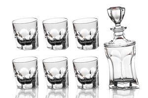 """Набор для виски """"Акапулько"""" 7 предметов: штоф и 6 стаканов"""