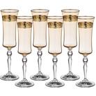 """Набор бокалов для шампанского из 6 шт. """"Грейс"""" Амбер 190 мл."""