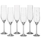 """Набор бокалов для шампанского из 6 шт. """"Виола микс"""" 190 мл."""