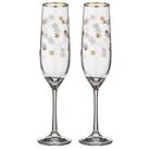 """Набор бокалов для шампанского из 2 шт. """"Рождественские звезды"""" 190 мл."""