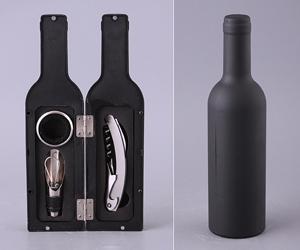 Набор Подарочный: Штопор, Кольцо Для Бутылки, Лейка, Футляр-Бутылка