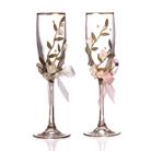 Набор бокалов для шампанского из 2 шт. с золотой каймой