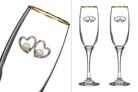 Набор бокалов из 2 шт. для шампанского с золотой каймой