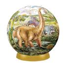 Шаровый пазл Динозавры 240 деталей, 15 см