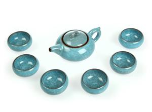 """Чайный набор 7 предметов """"Бирюза"""""""