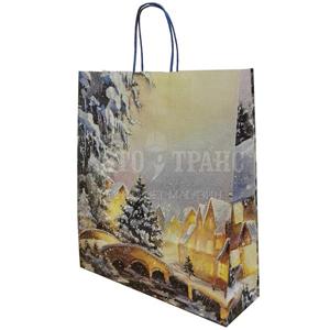 Подарочный пакет «Рождественская ночь», 36*12*41 см