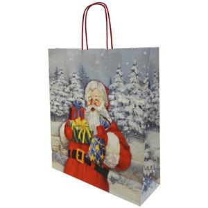 Подарочный пакет «Дед мороз», 36*12*41 см