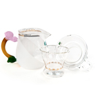 Набор из жаропрочного стекла для заваривания чая «Лето» с матовыми вставками