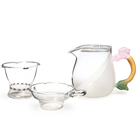 Набор из жаропрочного стекла для заваривания чая «Лето» с матовыми вставками большой