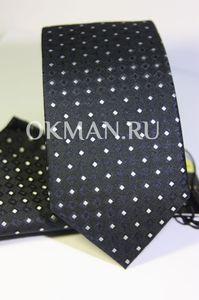 Набор Aristokrat галстук с платкомтемно-серого цвета с орнаментом