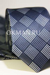 Набор Aristokrat галстук с платком серо-лилового цвета с ромбовидным рисунком