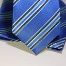 Набор Aristokrat галстук с платком лазурного цвета с косыми линиями