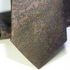 Набор Aristokrat галстук с платком бронзового цвета с абстрактным орнаментом