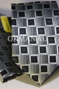 Набор Aristokrat галстук с платком с квадратами объемно-геометрической формы