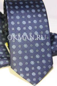 Набор Aristokrat галстук с платком сине-фиолетового цвета с четким художественным рисунком