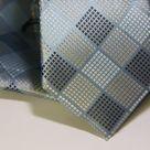 Набор Aristokrat галстук с платком в клетку с сочитанием голубых и пастельных оттенков