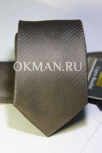 Набор Aristokrat галстук с платком коричневого оттенка со стильной структурой
