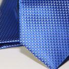 Набор Aristokrat галстук с платком синего цвета с голубым глянцем