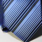 Набор Aristokrat галстук с платком изысканный лазурного цвета с косыми линиями