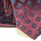 Набор Aristokrat галстук с платком бордового цвета с ромбами