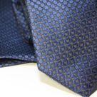 Набор Aristokrat галстук с платком синего цвета с респектабельной фактурой