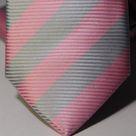 Набор Aristokrat галстук с платком с косыми серыми и коралловыми линиями