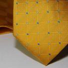 Набор Aristokrat галстук с платком желтого цвета с клетчатой структурой